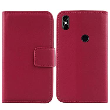 """Golden Sheeps Flip Case Compatible for BLU Vivo X5-5.7"""" HD Display Smartphone Magnetic Leather Wallet Pouch Cover Case Card Holder with a Viewing Stand (Pink)"""
