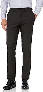 Men's Shadow Check Stretch Slim Fit Dress Pant