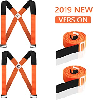 Moving Straps, 2-Person Lifting and Moving System - Easily Move, Lift, Carry Furniture, Appliances, Mattresses, Heavy Object Without Back Pain. Great Tool for Moving Supplies