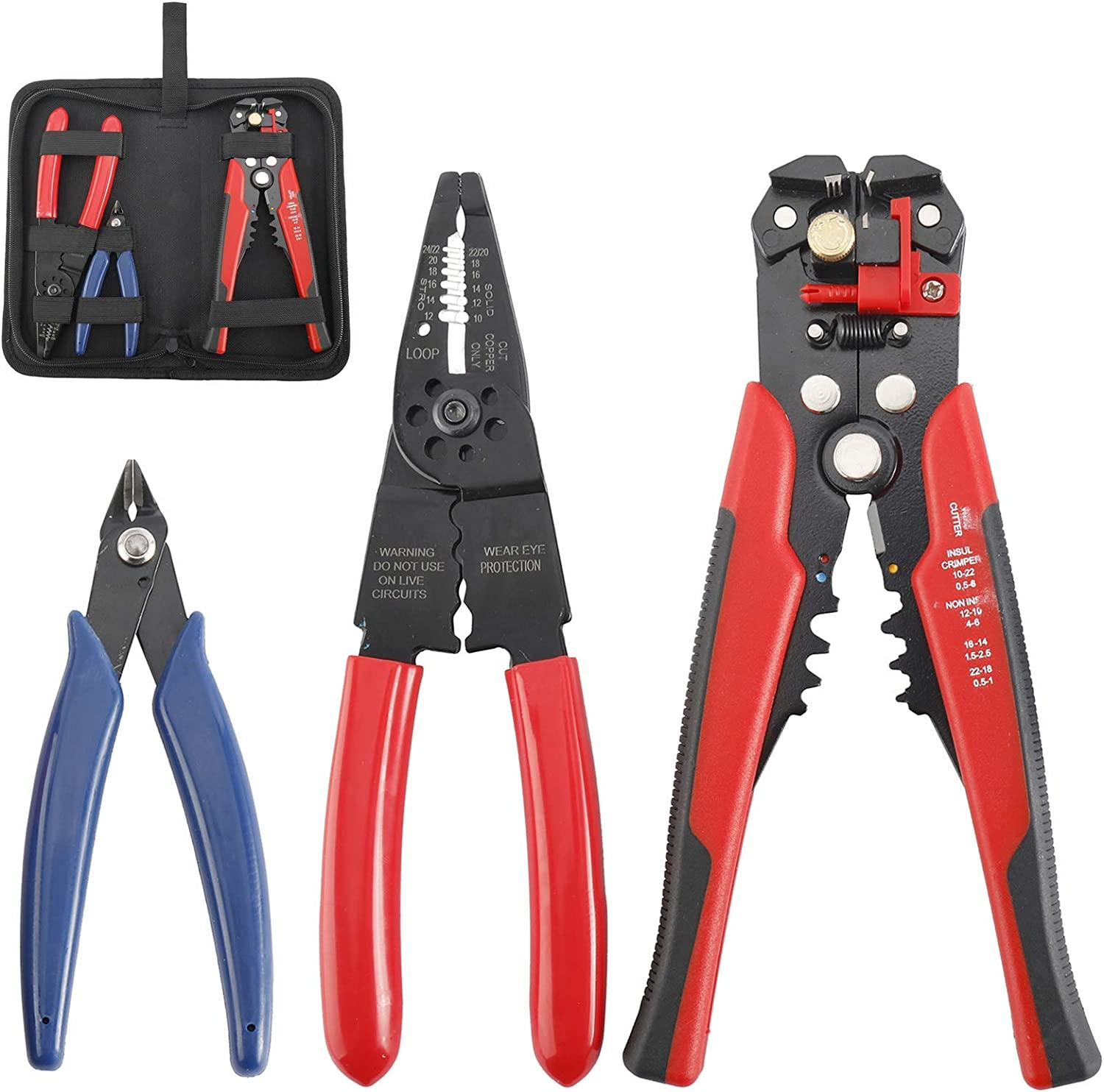Seattle Mall Choice Tysun Wire Stripper Crimping Tool Aut Inch 8 Self-Adjusting Kit
