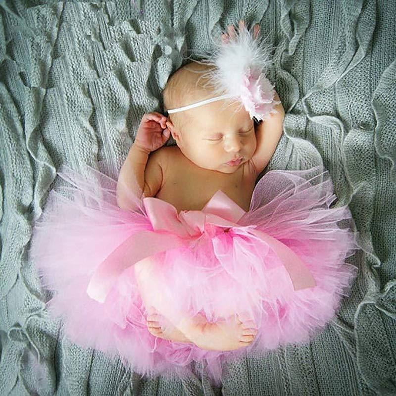 Baby Tutu Skirt Photography Costume Headband Set Pettiskirt Childrens Photography Clothing For Photo Studio