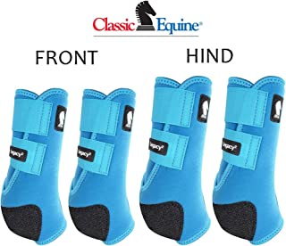 Classic Equine MEDIUM LEGACY2 HORSE FRONT HIND SPORTS BOOTS 4 PACK TURQUOISE
