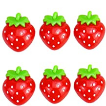 Monrocco 40Pcs Resin Strawberry Charms Strawberry Fruits Slime Charms Slime Beads Flat Back Cabochons Decoden