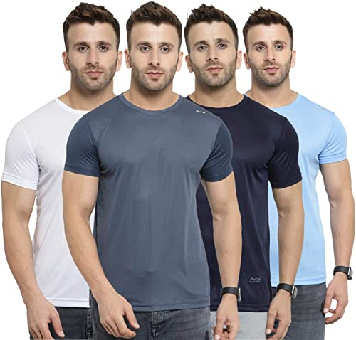 Men s Regular Fit T Shirt Pack of 4