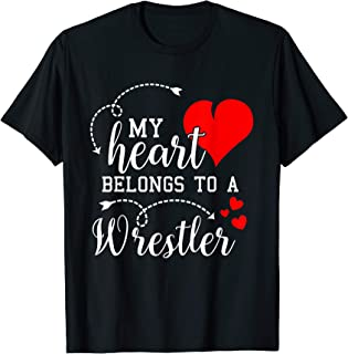 I Love My Wrestler Husband Wife Gifts Valentines Day Shirt