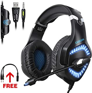TOPXCEGUU G3 Gaming Headset for Xbox PS4 PC,Video Game Professional Gaming Headphones with Noise Cancelling Mic for Laptop,NS