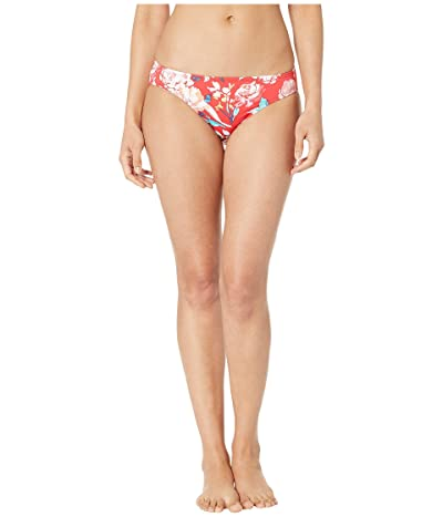LAUREN Ralph Lauren Bright Floral Printed Hipster Bottoms (Red) Women