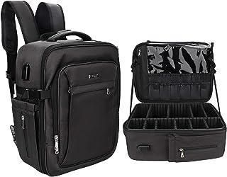 Makeup Backpack, Professional Makeup Organizers Makeup Case Makeup Bag, Travel Cosmetic Bag, Comfortable and Portable Make...