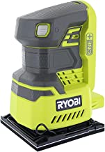 Ryobi P440 One+ 18V Lithium Ion 12,000 RPM 1/4 Sheet Palm Sander w/ Onboard Dust Bag and..