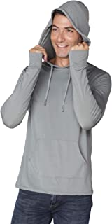 INGEAR Men's Performance UPF 50+ UV/Sun Protection Hoodie T-Shirt Long Sleeve with Pockets SPF Shirt Runing Hiking Shirt