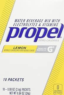 Gatorade Propel Powder Sticks Lemon, 10 - 0.08 oz Packets, (Pack of 6)
