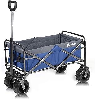 comprar comparacion Sekey Carro Plegable Carro de Mano Carrito Playa Carro Transporte para Jardín hasta 120kg 360° Giratorio Apto para Todo Te...