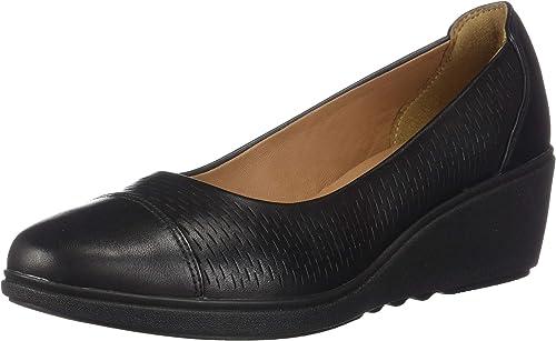 CLARKS Wohommes Un Taillera Dee noir Leather 9.5 B US B (M)
