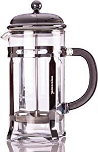 French Press Coffee Maker - 20 oz (600 ml) Espresso and Tea Maker with Triple Filters, Stainless Steel Plunger and Heat Resistant Borosilicate Glass with 6 Bonus Filters - by Procizion