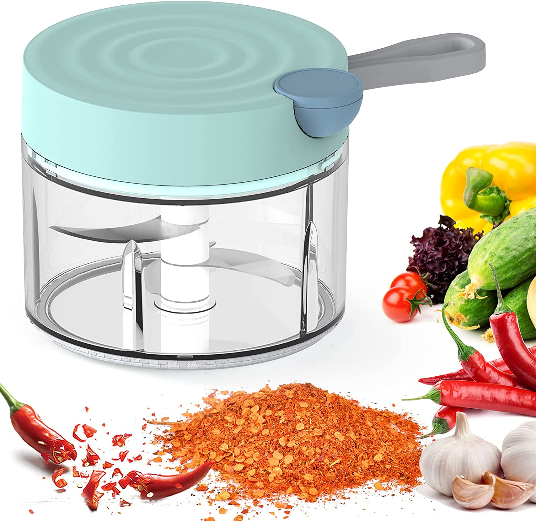 Premium Garlic Chopper Mincer Pull Vegetable Meat Mini Tampa Mall Ch Import Slicer