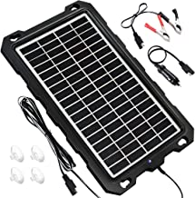 POWOXI Solar Battery Charger Car, 7.5W 12V Solar Trickle Charger for Car Battery, Portable and Waterproof Solar Battery Maintainer, High Conversion Polysilicon Solar Panel car Battery Charger for