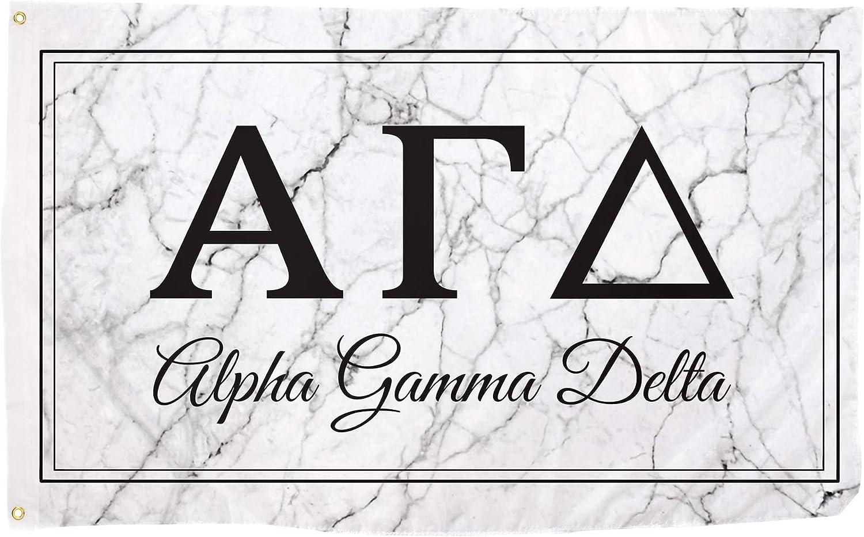 Alpha Gamma Delta Letter Sorority Flag Banner 3 feet x 5 feet Si