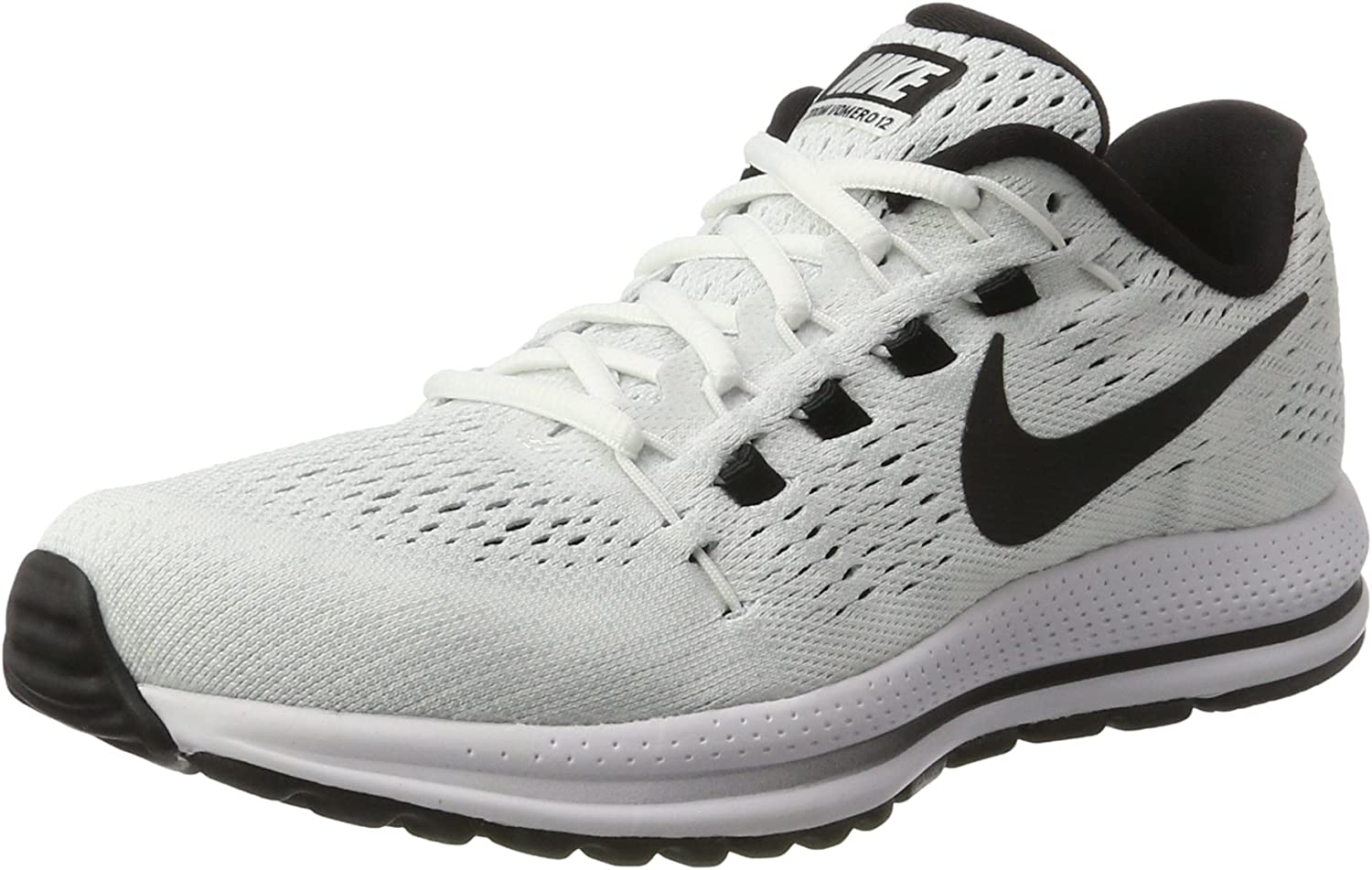 Nike Air Zoom Vomero 12 Sz 13 Mens Running White Black-Pure Platinum shoes