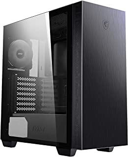 MSI MPG SEKIRA 100P 'S100P' Mid Tower Gaming Computer Case 'Black, 4X 120 mm PWM Fans, USB Type-C, Tempered Glass Panel, A...