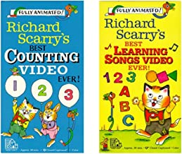 Two Pack of Richard Scarry's Best Counting Video Ever & Best Learning Songs Video Ever