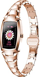 ساعت هوشمند برای زنان ، ضد آب ساعت های هوشمند ورزش ساعت دیجیتال ردیاب تناسب اندام با فشار خون ضربان قلب اکسیژن خون صفحه نمایش لمسی صفحه نمایش لمسی تلفن های Android iOS سازگار
