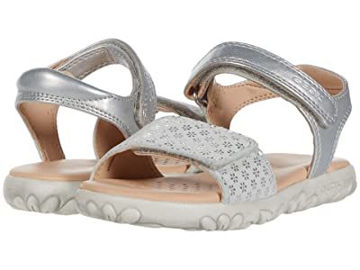 Geox Kids Sandal Haiti 7 (Toddler/Little Kid) (Silver) Girl