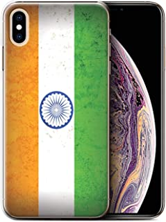 Phone Case for Apple iPhone Xs Max Asian Flag India/Indian Design Transparent Clear Ultra Slim Thin Hard Back Cover