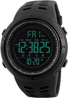 Orologio digitale da Polso - uomo sportivo militare impermeabile cronografo orologi conto alla rovescia, luci LED gomma ne...