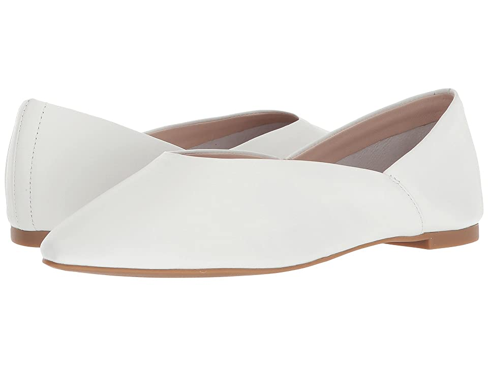 Nine West Monika 40th Anniversary Flat (White Leather) Women