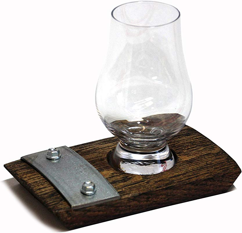 Single Glencairn Glass Coaster Whiskey Coaster Bourbon Coaster Glencairn Glass Coaster With Galvanized Steel