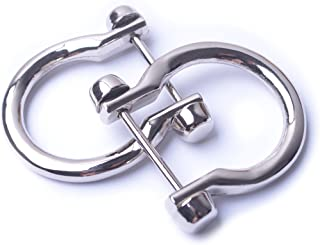 Bobeey 4pcs Silver U Shape D-Rings,Horseshoe Shape D Ring,U Shape D Rings,Screw in Shackle Horseshoe Shape D Ring DIY Leat...