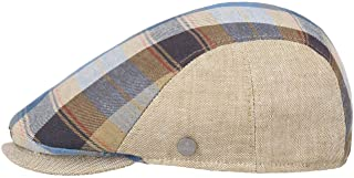 Lierys Coppola in Cotone Lenola Check Uomo - Made Italy Cappello Piatto Cotton cap con Visiera, Fodera Primavera/Estate