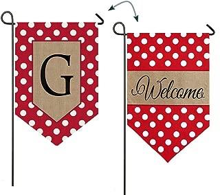 Evergreen Enterprises 14B3477GFB Polka-Dot Welcome Monogram Garden Flag Letter: G