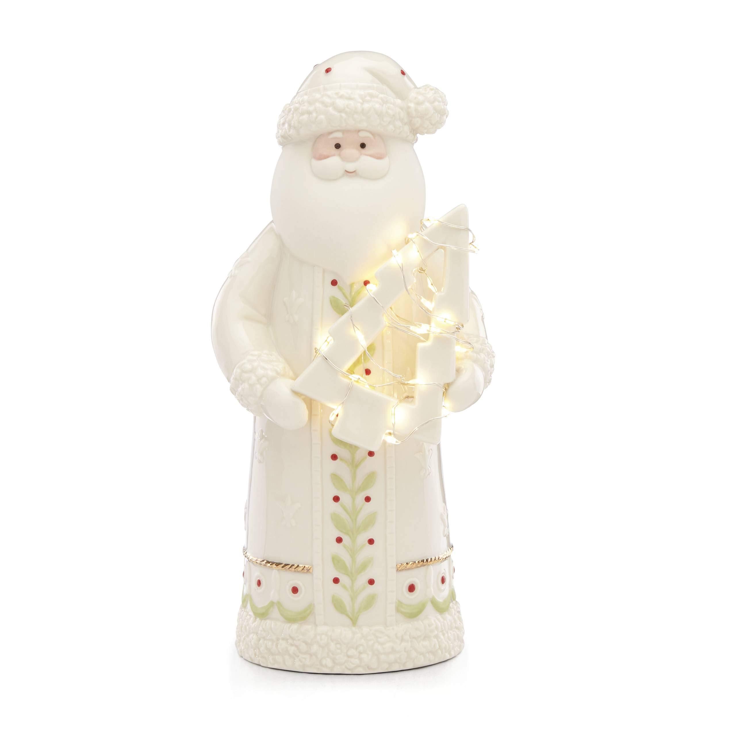 Image of Lenox Lighted Santa Figurine
