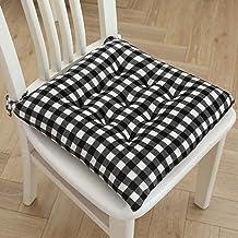 Almofada acolchoada para cadeira Almofada acolchoada para cadeiras com gravatas, conjunto de 2 almofadas clássicas de asse...