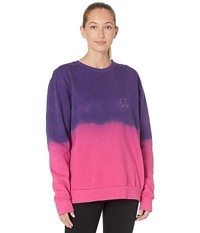 Ivory Ella Vibrate Ombre Tie-Dye Oversized Sweatshirt Women