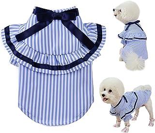 Qidelong Dog Shirt Striped Puppy Clothes, Soft Casual Pet Clothing, Dog Apparel for Small Medium...
