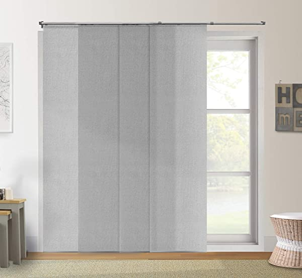 Chicology Adjustable Sliding Panels Cut To Length Vertical Blinds Up To Up To 80 W X 96 H 3 Urban Grey Light Filtering
