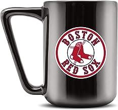 Duck House MLB BOSTON RED SOX Ceramic Coffee Mug - Metallic Black, 16oz