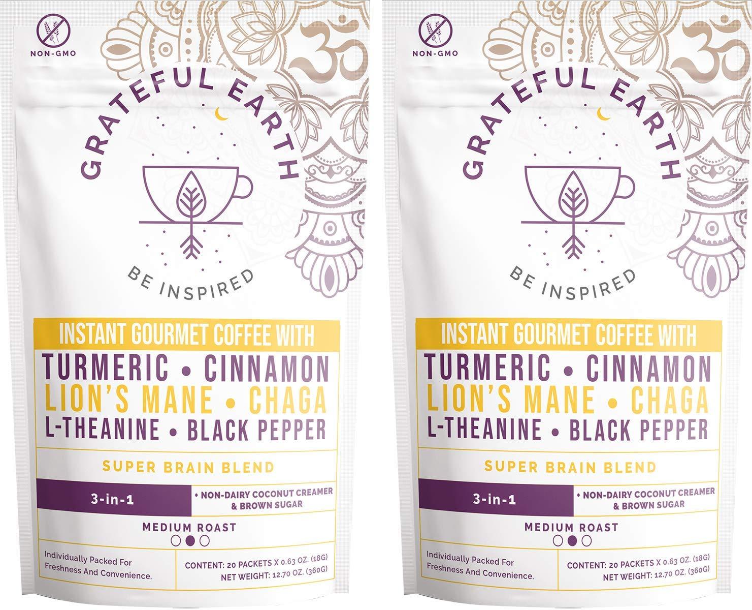 Grateful Earth: Tampa Mall Super Brain Alternative dealer Blend 3-in-1 Gourmet Instant Coffee
