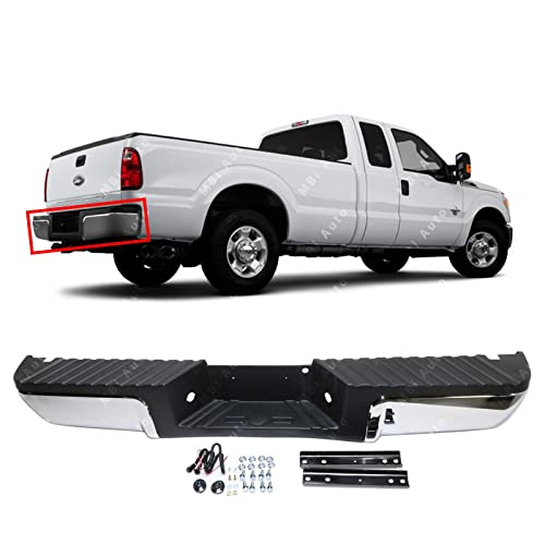 For 08-12 FORD SUPER DUTY KING RANCH REAR STEP BUMPER BLK CAP GOLD PAD W//O HOLE