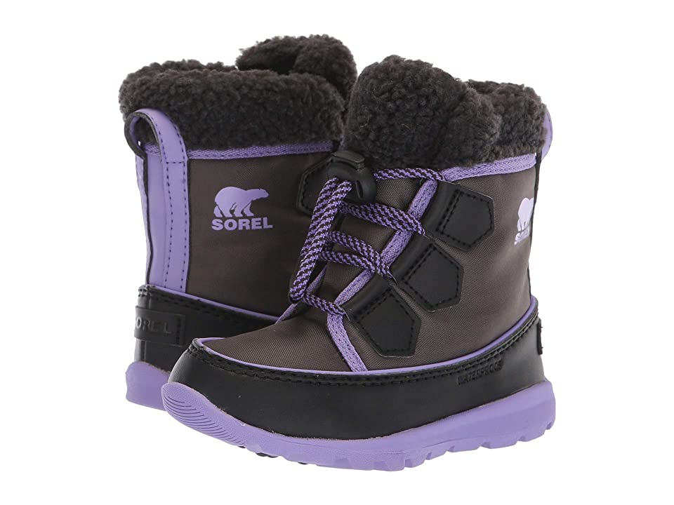 SOREL Kids Whitneytm Carnival (Toddler/Little Kid) (Dark Grey/Paisley Purple) Girls Shoes