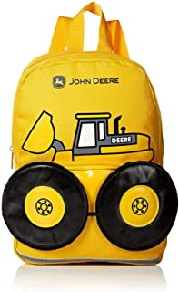 "John Deere Boys' Tractor Toddler Backpack (13"", Yellow)"
