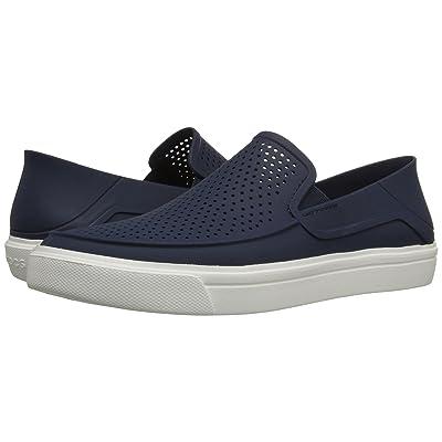 Crocs CitiLane Roka Slip-On (Navy/White) Slip on Shoes