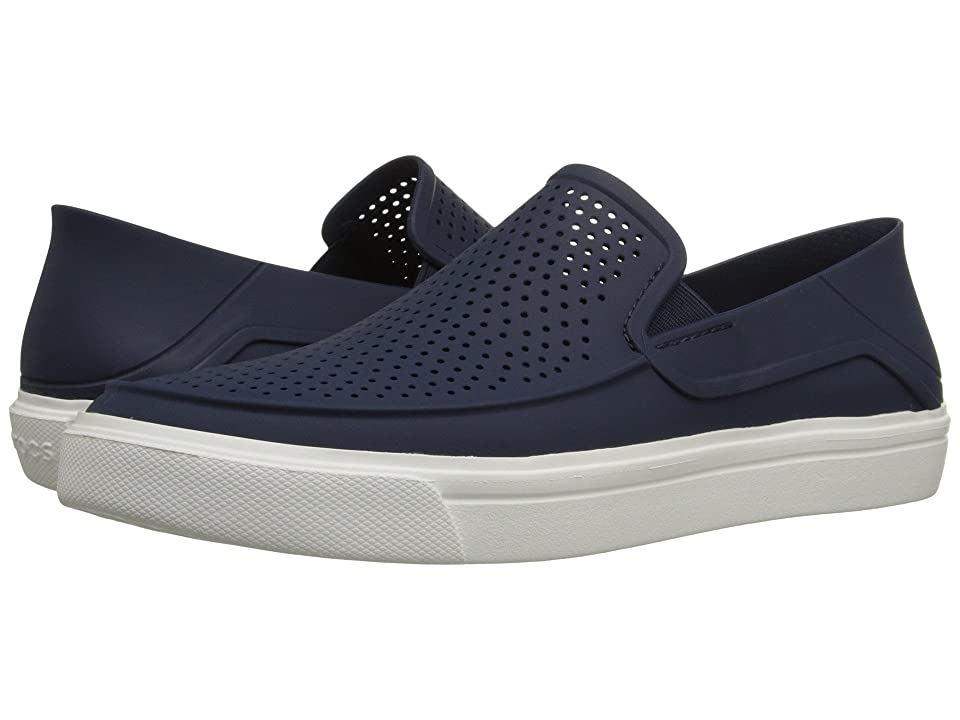 Crocs CitiLane Roka Slip-On (Navy/White) Slip on Shoes