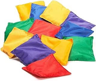 Prextex 16 Pack Nylon Bean Bags Fun Sports Outdoor Games Bean Bag Carnival Toy Bean Bag Toss Game
