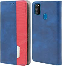 Jkobi Artificial Leather Flip Cover for Samsung Galaxy M30s - Blue