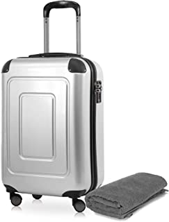 Happy Trolley Lugano Bagage cabine 55 centimeters 40 Argenté (Silber)