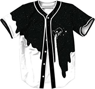 Unisex Baseball Jersey Short Sleeve Print Shirts