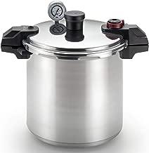 T-fal Pressure Cooker, Pressure Canner with Pressure Control, 3 PSI Settings, 22 Quart, Silver (Renewed)